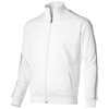 Court  full zip sweater in white-solid
