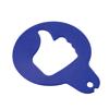 Cappucino Stencil Custom Shaped in blue