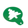 Cappucino Stencil Custom Shaped in green
