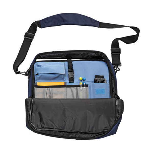 Document/laptop bag in blue