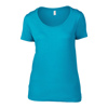 Anvil Women'S Featherweight Scoop Tee in caribbean-blue