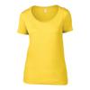 Anvil Women'S Featherweight Scoop Tee in lemon-zest