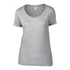 Anvil Women'S Featherweight Scoop Tee in silver