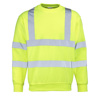 High-Visibility Sweatshirt in fluorescent-yellow
