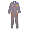 Texo Contrast Coverall (Tx15) in charcoal