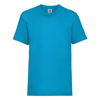 Kids Valueweight Tee in azure-blue