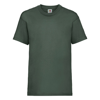 Kids Valueweight Tee in bottle-green