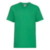 Kids Valueweight Tee in kelly-green
