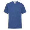 Kids Valueweight Tee in retro-heather-royal