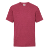 Kids Valueweight Tee in vintage-heather-red