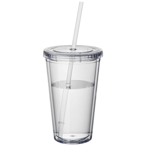 Cyclone insulated tumbler and straw