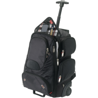 Proton checkpoint friendly 17'' laptop wheeled backpack