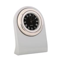 Arch Executive Desk Clock Silver/Silver