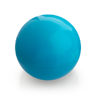 Blue Ball Shaped Lip Balm