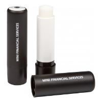 Black Lip Balm Stick, Domed label, 4.8g