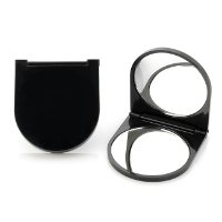 Black Plastic Compact Mirror