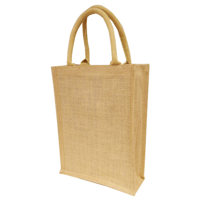Oversize Small A4 Natural Jute Bag