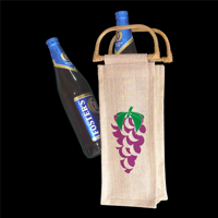 Jute Single Bottle Bag