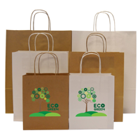 Hardwick 100gsm Ribbed Large A3 Kraft Paper Bag