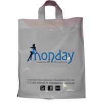 14 Inch Flexi-Loop Carrier Bags, printed to one side.