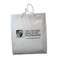 Rope Handled Carrier Bags, printed to one side.