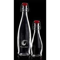 Flip top cork bottle 1 Ltr 320mm high red top 6's