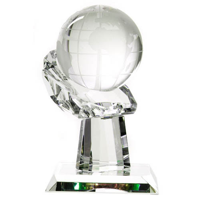 Globe In Hand Trophy