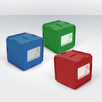 Recycled Money Box Cube