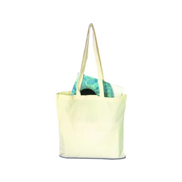 Bag with long handles, Natural