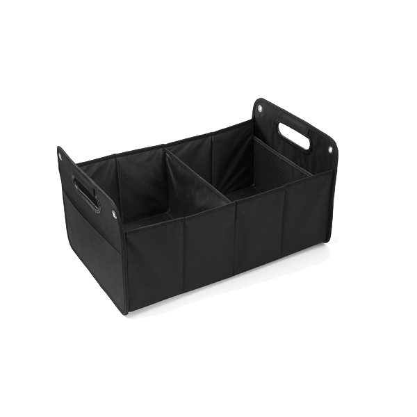 Foldable car organizer.