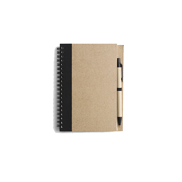 Recycled notebook.