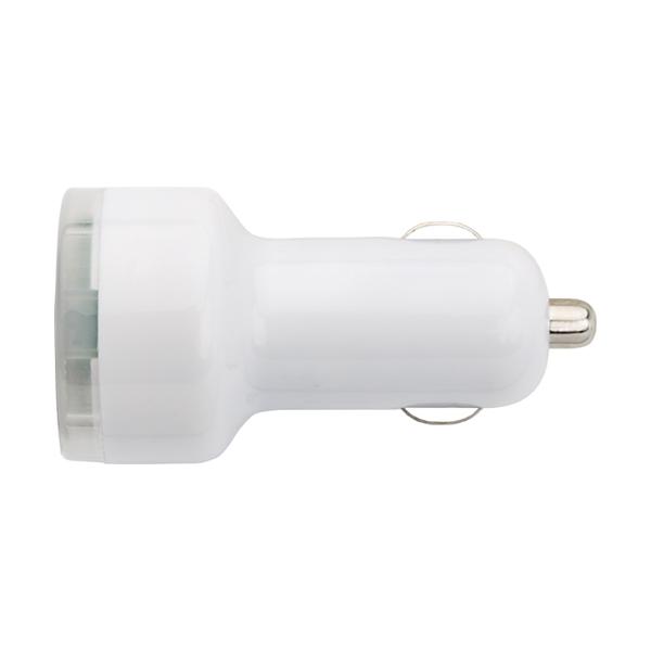 Plastic car power adapter.