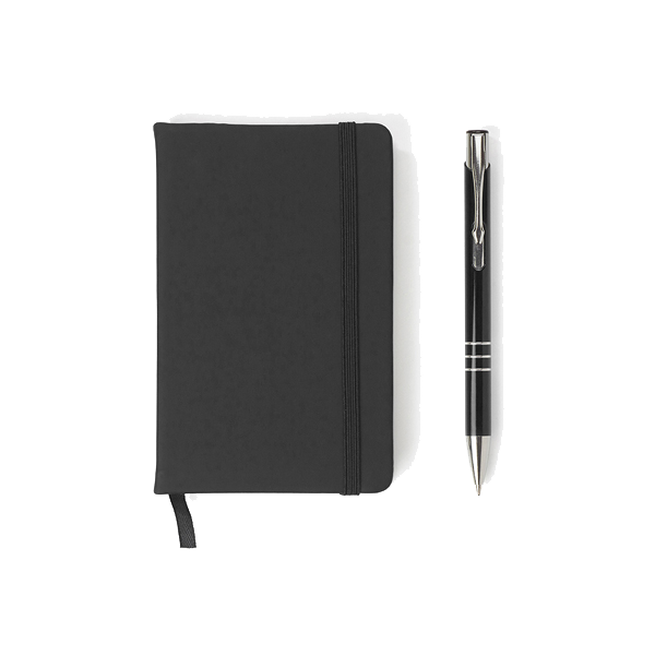 Notebook and ballpen set.