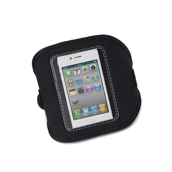 Neoprene armband for a phone.