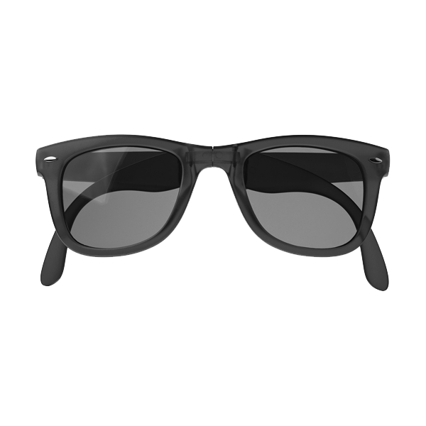 Foldable frosted sunglasses.