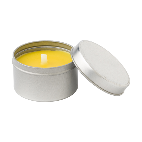 Citronella candle in round tin