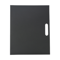 Folder with natural card cover,