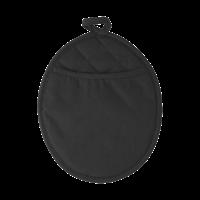 Neoprene oval shaped oven glove.