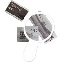 Thin plastic magnifying glass