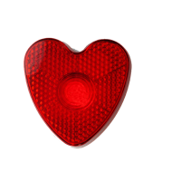 Heart shaped safety light