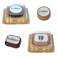 Logo chocolate in clear box
