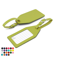Belluno PU Angled Luggage Tag with window & printed address card