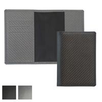 Carbon Fibre Textured Passport Wallet