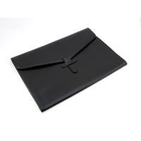 Black Belluno PU Envelope Style Underarm Folio / Laptop Sleeve with Strap