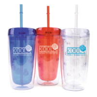 450ml Double Waled As Plastic Tumber With Straw