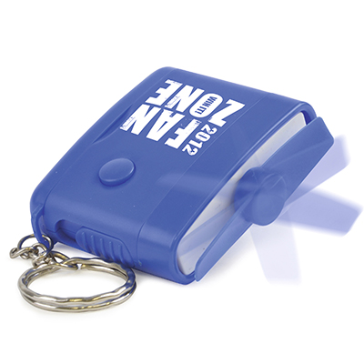 Plastic Rectangular Fan Keyring