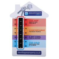 House Temperature Gauge Card