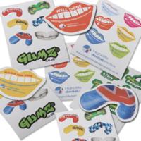 Sheet Of Random Shaped Stickers A7
