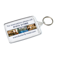 Acrylic Ellipse Keyfob 30x63mm