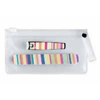 Manicure Tools In Clear Pouch